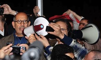 El Baradei, en enero de 2011, contra Mubarak.