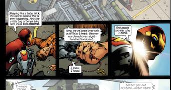 Bruce Banner, con un rosario en la mano, en el cómic.