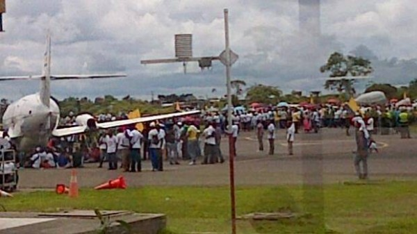 manifestantes de colombia