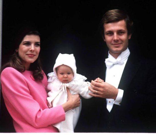 Carolina y Stéfano con su hijo Andrea