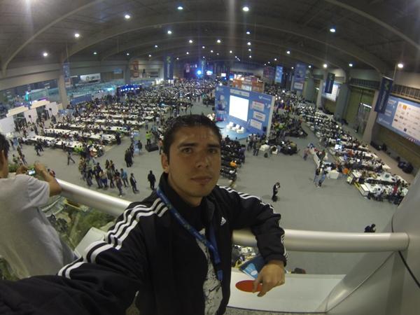 Cristian Mora en el Campus Party de México.