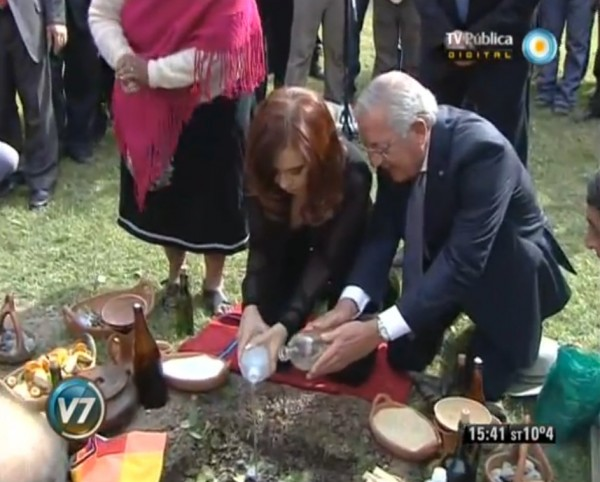 Cristina Fernandez pacha mama