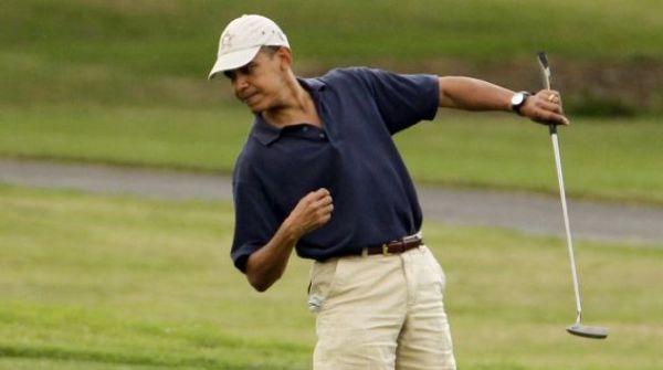 Obama-juega-golf con amigos
