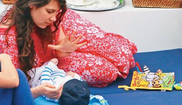 Tatiana Santo Domingo con su hijo Sasha