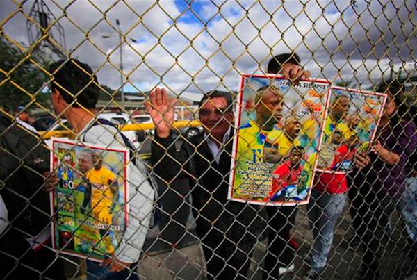 La foto es de Dolores Ochoa, de AP, tomada el 2 de agosto de 2013, en el Coliseo Rumiñahui.