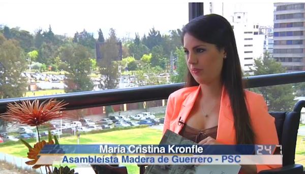 María Cristina Kronfle, asambleísta por el Partido Social Cristiano. Foto de La República.