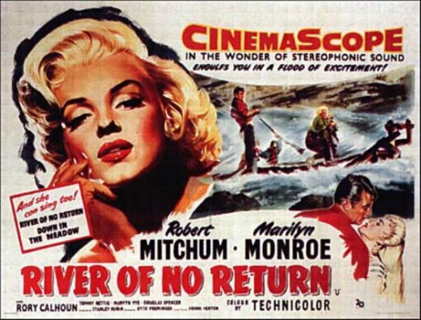 Marilyn Monroe en Rio sin Retorno.