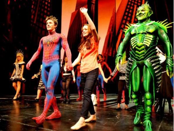 El musical de Spiderman en Broadway.