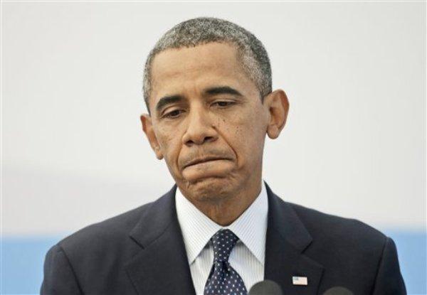 El presidente norteamericano Barack Obama hace una pausa mientras responde a una pregunta sobre la situación en Siria en una conferencia de prensa en San Petersburgo, Rusia, el viernes 6 de septiembre de 2013. (Foto AP/Pablo Martínez Monsivais)