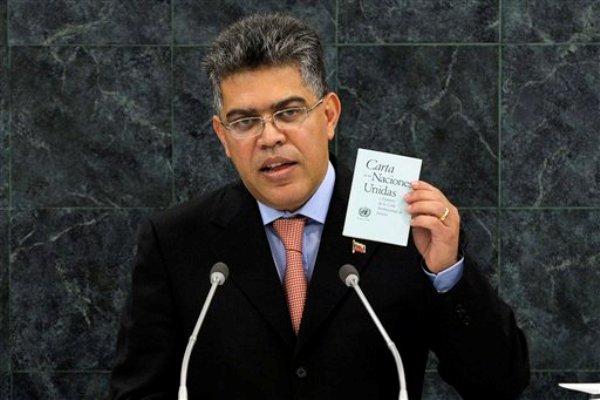 Elías Jaua, canciller de Venezuela, se dirige a la Asamblea General de la ONU en la sede de las organización en Nueva York, el viernes 27 de septiembre de 2013. (Foto AP/Eduardo Muñoz, Pool)