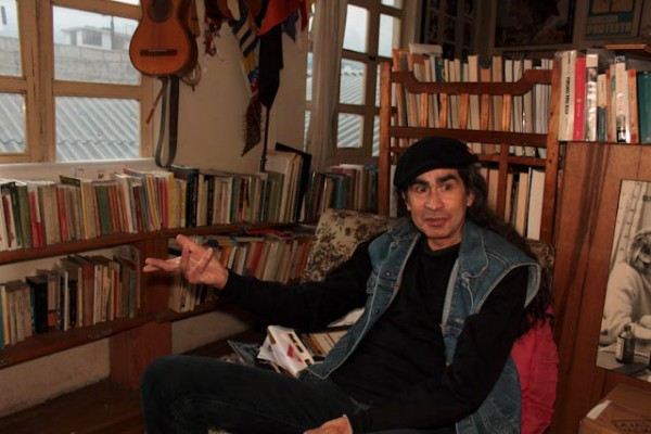 Jaime Guevara, cantautor ecuatoriano. Foto de Archivo, La República.