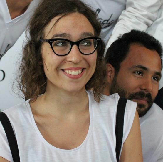 La directora, Lucía Miranda, y el actor Aníbal Páez