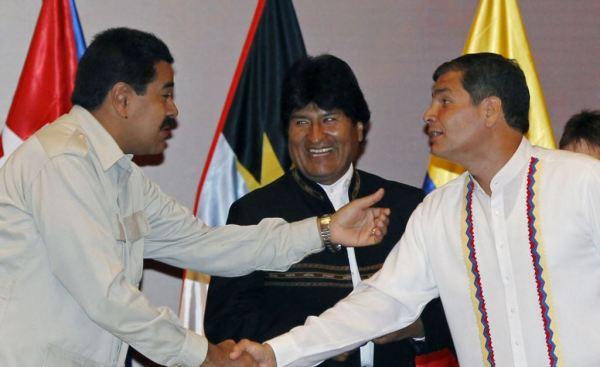 Maduro, Morales  Correa