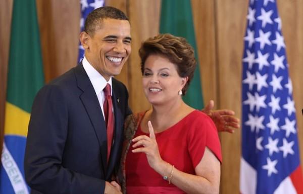 Barack Obama y Dilma Rousseff. Foto de Archivo, La República.
