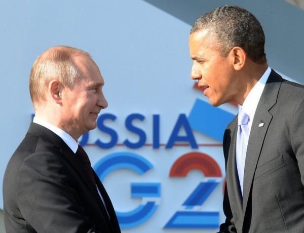 El presidente de Rusia Vladimir Putin y su homólogo Barack Obama en la cumbre del G 20 en Moscú, Foto EFE