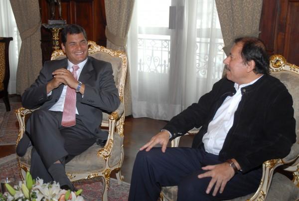 Rafael Correa y Daniel Ortega