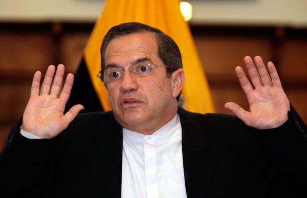 Canciller Ricardo Patiño. Foto de Archivo, La República/EFE.