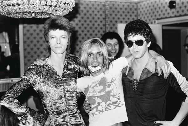 David Bowie, Iggy Pop y Lou Reed.