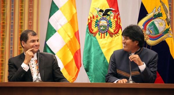 Rafael Correa Evo Morales