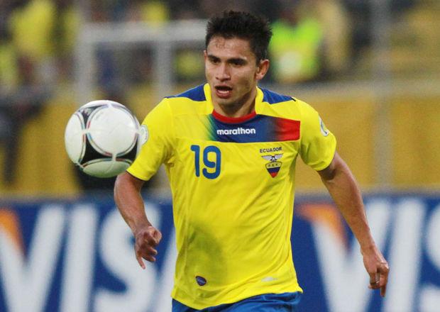 Luis Ferrnando Saritama vistiendo la camiseta de la selección de Ecuador. Foto API.