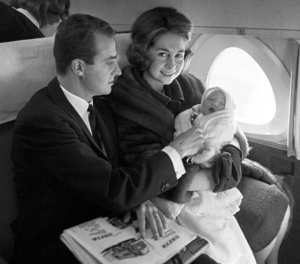 Los reyes de España con su hija primogénita