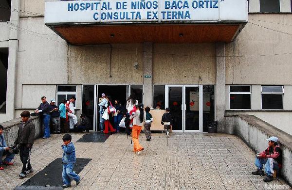 Hospital Baca Ortiz, en Quito.