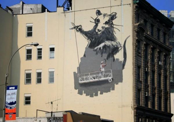 Obra de Banksy. Foto de Archivo, La República.