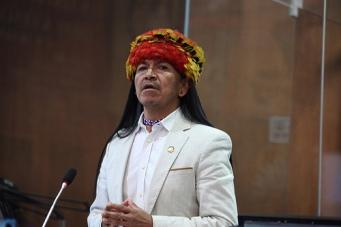 Carlos Viteri Gualinga, de PAIS, presentó el informe. API