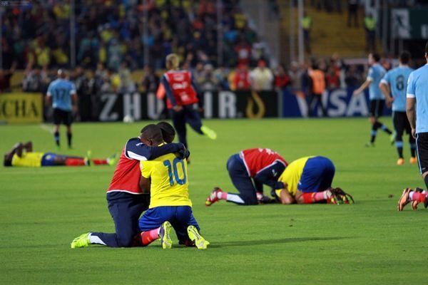 Quito 11 de octubre 2013. 17ma fecha de eliminatorias del mundial Brasil 2014.Ecuador vs Uruguay/ APIFOTO