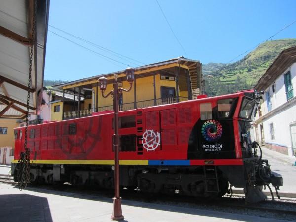 Los ferrocarriles del Ecuador, en Aluasí.