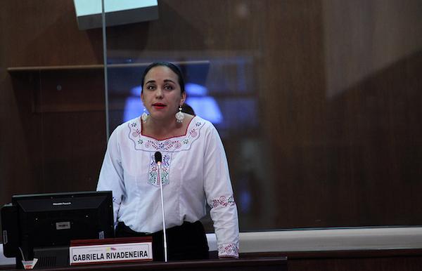 Gabriela Rivadeneira. Foto de Archivo: La República.
