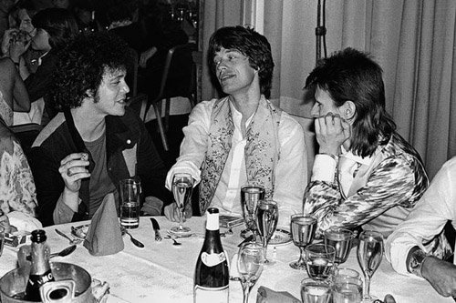 Lou Reed, Mick Jagger y David Bowie.