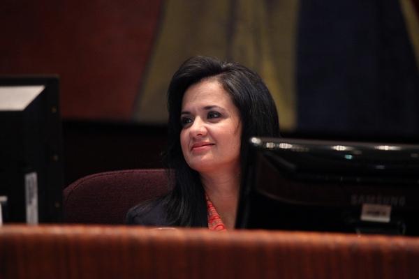 La asambleísta Marcela Aguiñaga, segunda vicepresidenta de la Asamblea Nacional. Foto de Archivo.