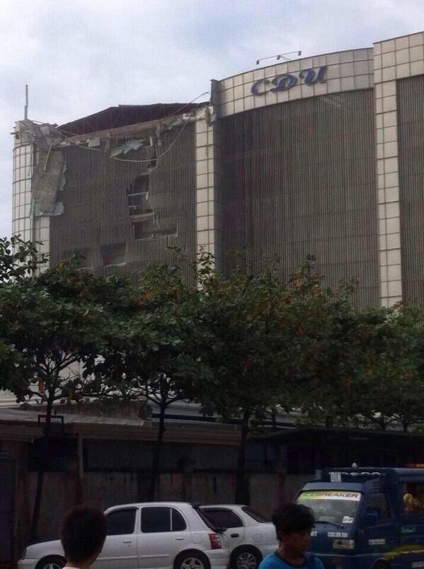 Daños en edificios de Filipinas por el terremoto