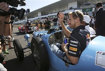 Sebastían Vettel, piloto alemán del Red Bull(Foto AP/Greg Baker)