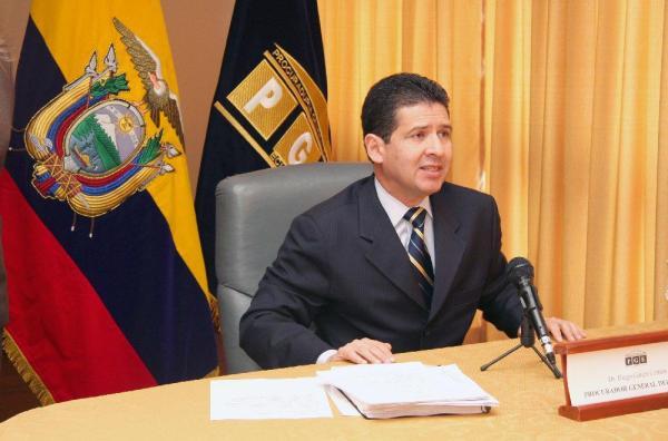 Diego García, Procurador de Ecuador. Foto de archivo