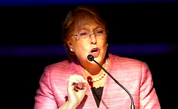 Michelle Bachelet, presidenta de Chile. Foto de Archivo, La República.
