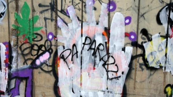 Aspecto de cómo lucen hoy los graffitis pintados por Bieber en Rio de Janeiro.