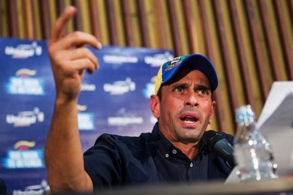 Henrique Capriles. (Foto AP/Alejandro Cegarra)
