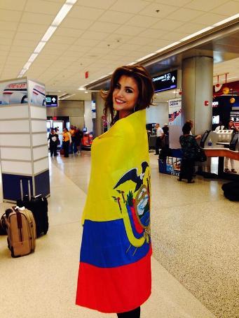 Constanza Báez, a su regreso a Guayaquil.