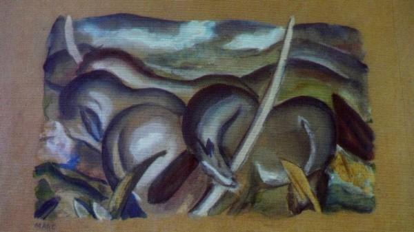 Una reproducción de Franz Marc, pintor alemán