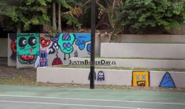 justin bieber grafitti australia