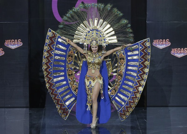 Constanza Baez, Miss Ecuador 2013, competes in her national costume during the 2013 Miss Universe National Costume Show at the cultural and trading center Vegas in Moscow, Russia, 03 November 2013. The 2013 Miss Universe Pageant will take place at the Crocus City Hall in Moscow on 09 November. EFE/EPA/MAXIM SHIPENKOV