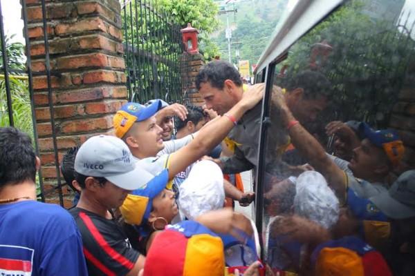 El líder de la oposición Henrique Capriles.