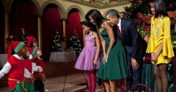 Obama Navidad hijas