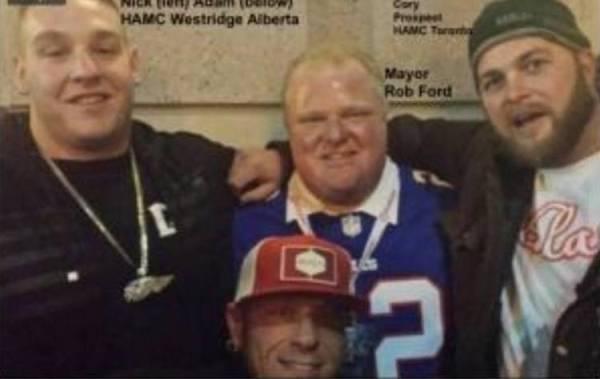 Rob Ford con miembros del