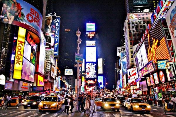 Times Square, centro de Nueva York. Foto de Archivo, La República.