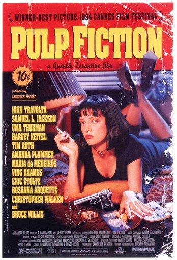 """Un afiche de """"Pulp Fiction"""" en una fotografía sin fecha proporcionada por la Biblioteca del Congreso. La biblioteca incorporó 25 películas, incluyendo """"Pulp Fiction"""" en el Archivo Cinematográfico Nacional para que sean preservadas por su importancia cultural, histórica o cinematográfica. (Foto AP/Library of Congress, Courtesy of Miramax)"""