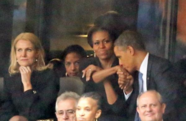 beso de obama