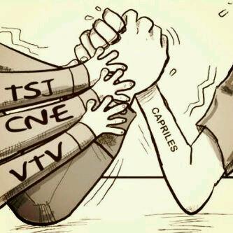 Caricatura tuiteada por Capriles.